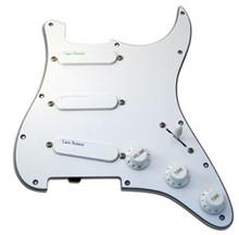 Lace Sensor Rainbow Pack (Emerald, Silver, Purple) Loaded Pickguard - white