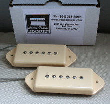 Lindy Fralin P90 Dog Ear Stock Pickup set - cream
