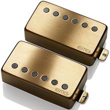 EMG 57 / 66 Active Alnico V Humbucker set - brushed gold