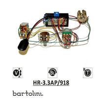 Bartolini HR-3.3AP Pre-Wired 2 Band EQ Active/Passive Vol, stacked bass/treble & blend