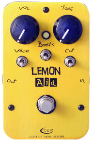 Rockett Pedals Lemon Aid Clean Boost pedal - open box