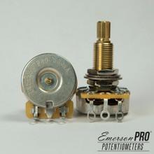 """Emerson Custom 500K Long (3/4"""") Split Shaft Pot"""
