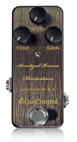 One Control BJF Designed Anodized Brown Distortion pedal