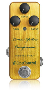 One Control BJF Designed Lemon Yellow Compressor pedal