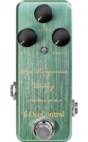 One Control BJF Designed Sea Turquoise Delay pedal