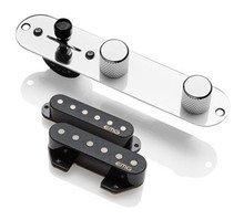 EMG T52 Retro Active Tele pickup system - pickups & control plate