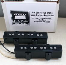 Lindy Fralin Jazz Bass +5% (neck & bridge) pickup set - black