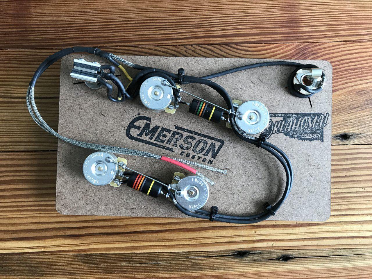 Emerson Custom Es 335 Prewired Kit 500k Pots Macdaddy Music Stratocaster Wiring Diagram Image 1