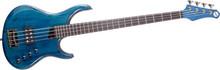 MTD Kingston Artist 4 String Bass Guitar - Translucent Blue, Rosewood Fretboard