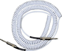 "Lava Retro Coil Cable 20 ft straight to straight 1/4"" - white"
