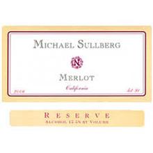 MIchael Sullberg Merlot Reserve