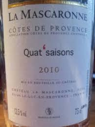 "La Mascaronne ""Quat' Saisons"" Rose (Provence, France)"