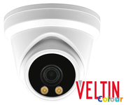Veltin Colour 5MP IP Dome Camera with integrated Audio Mic