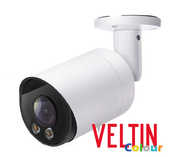 Veltin Colour 5MP IP Bullet Camera with integrated Audio