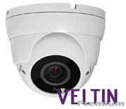 Veltin Premium 5MP IP Varifocal 2.8 - 12mm Dome Camera with POE,  30M IR - White