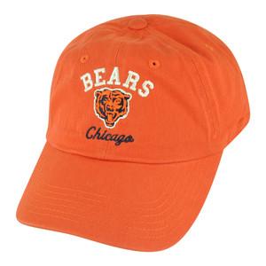 NFL Chicago Bears Freeman Garment Wash Slouch Buckle Adjustable Orange Hat Cap