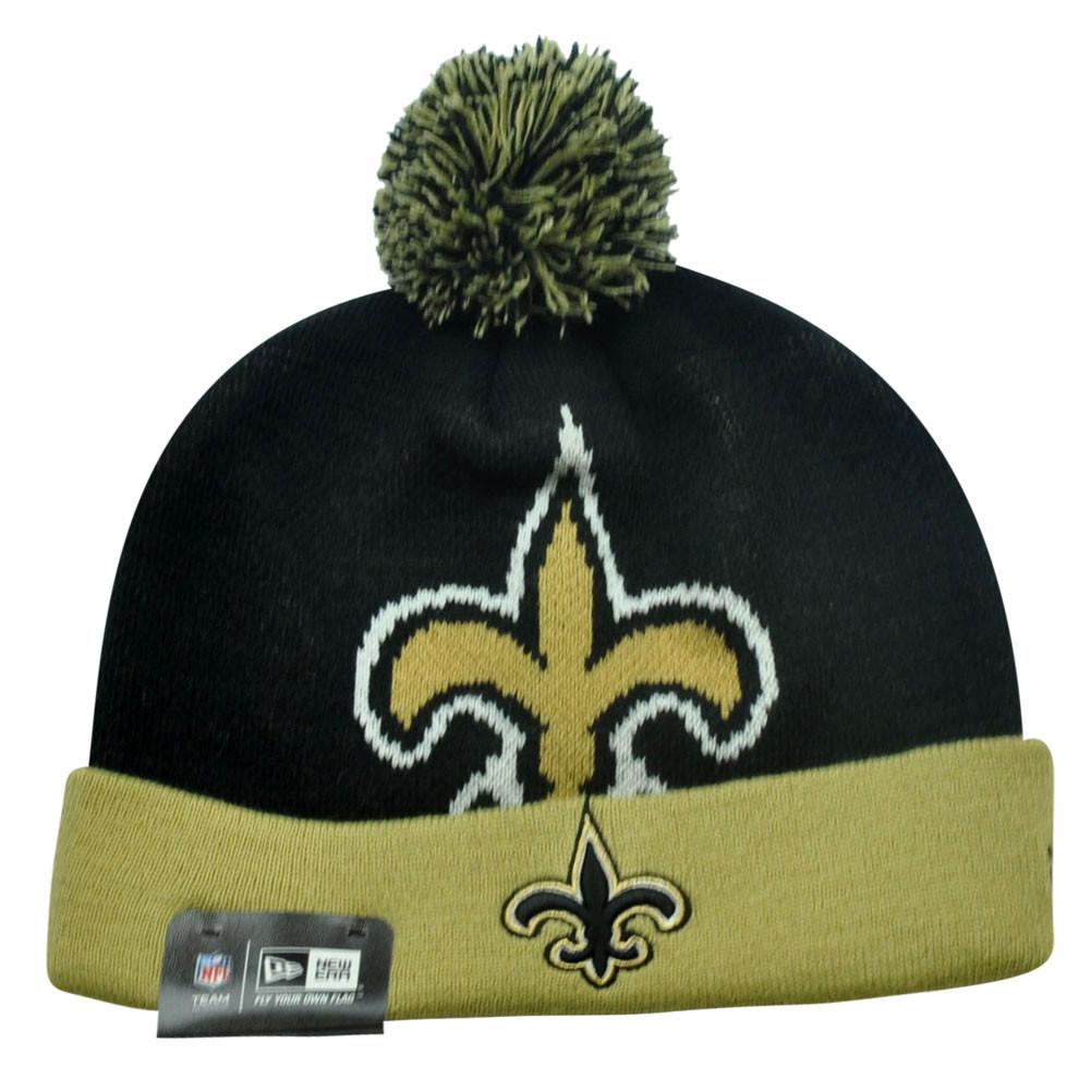 ecba6665960 NFL New Era New Orleans Saints Woven Biggie 2 Cuffed Beanie Winter Warm Knit  Hat. Price   16.95. Image 1