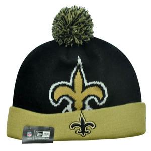 NFL New Era New Orleans Saints Woven Biggie 2 Cuffed Beanie Winter Warm Knit Hat