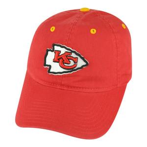 NFL Kansas City Chiefs Castel Women Ladies Garment Wash Clip Buckle Red Hat Cap