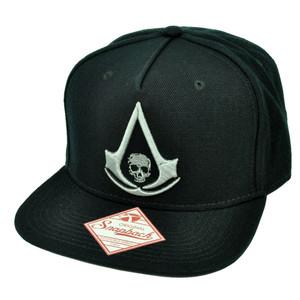 Assassins Creed IV Black Flag Video Game Snap Back Flat Bill Black Hat Cap