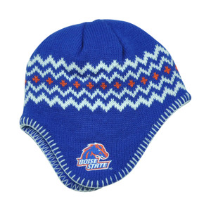NCAA Boise State Broncos Chalet Ear Flap Toddler Boys Knit Beanie Toque Blue Hat