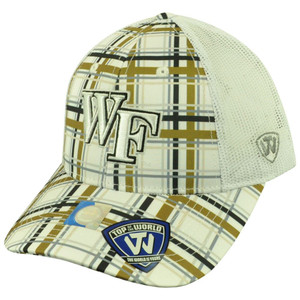 NCAA Top of the World Wake Forest Demon Deacons Empire Plaid Mesh Buckle Hat Cap