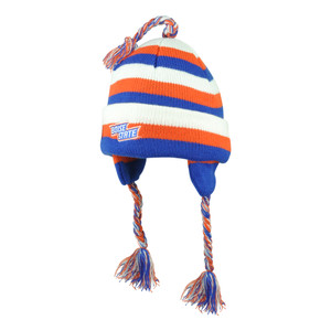 NCAA Illinois Fighting Illini Knit Star Striped Tassels Cuffed Beanie Ear Flap