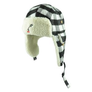 NCAA Cincinnati Bearcats Alcide Plaid Flap Trapper Beanie Knit Toque Black Hat