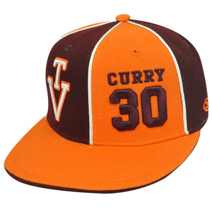 NCAA VIRGINIA TECH DELL CURRY 30 FITTED 7 1/8 HAT CAP