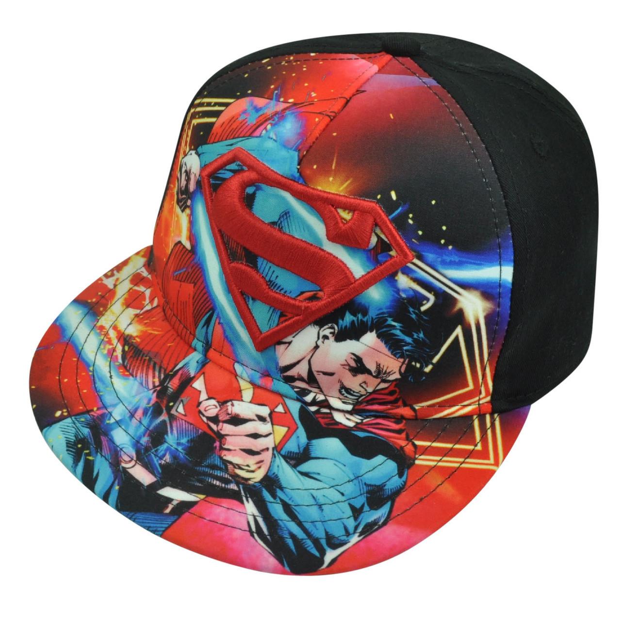 Superman Man of Steel Youth Snapback Flat Bill DC Comics Book Hat Cap  Cartoon. Price   20.95. Image 1 0a861bf58f59