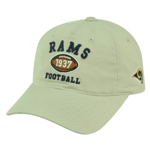NFL St Louis Rams Slouch Relaxed Garment Wash Clip Buckle Hat Cap Beige Football