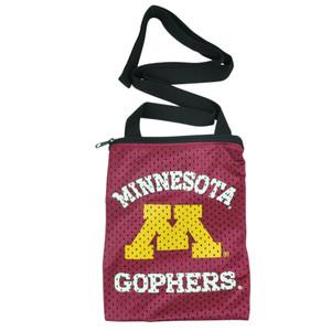 NCAA Minnesota Golden Gopher Messenger Jersey Bag Ladies Women Handbag Purse