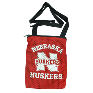 NCAA Nebraska Cornhuskers Messenger Jersey Bag Ladies Women Handbag Purse Red