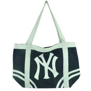 MLB New York Yankees Tote Canvas Womens Handbag Bag Purse Navy Blue Ladies Logo