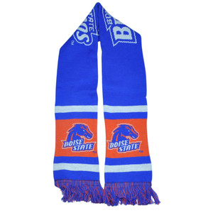 NCAA Boise State Broncos Long Scarf Winter Acrylic Game Day Team Stripe Winter