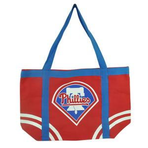 MLB Philadelphia Phillies Tote Canvas Womens Handbag Bag Purse Ladies Logo Red