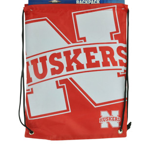 NCAA Nebraska Cornhuskers Drawstring Back Pack Book Bag School Red Gym Travel