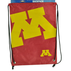 NCAA Minnesota Golden Gopher Drawstring Back Pack Book Bag School Red Gym Travel