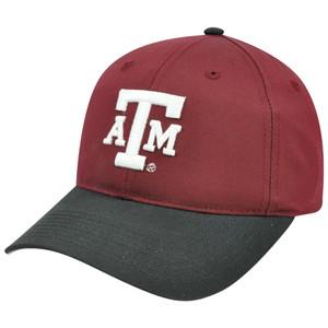 NCAA Texas A & M Aggies Mascot Logo Adult Small Adjustable Velcro Hat Cap Cotton
