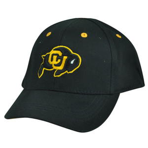 NCAA Colorado Buffaloes Top of the World Infant Fit Stretch Black Hat Cap Buff