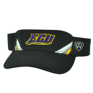 NCAA East Carolina Pirates ECU Top of the World Sun Visor Hat  Black Adjustable