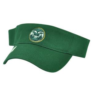 NCAA Colorado State Rams Top of the World Green Sun Visor Hat Adjustable Sport