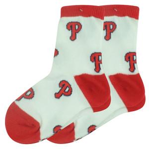 MLB Philadelphia Phillies Set of 2 Toddler 9 - 24 Socks Boys All Over Logo Fan