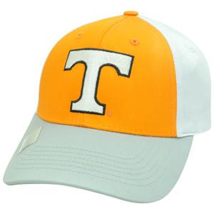 NCAA Tennessee Volunteers Vols Twill Cotton Adjustable Velcro Hat Cap Three Tone