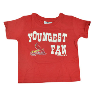 MLB ST Louis Cardinals Haney Toddler Tshirt Baseball Youngest Fan Tee Red