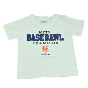MLB New York Mets NY Baseball Champion Toddler Tshirt Tee White Boys Shirt