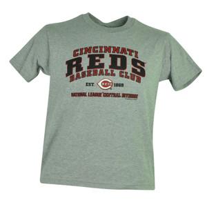 MLB Cincinnati Reds Faneca Jr Youth Cotton Tshirt Tee Grey Baseball Boy Sport