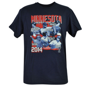 MLB Minnesota Twins Mauer Dozier Suzuki Willingham Nolasco Tshirt Tee Mens Cotton
