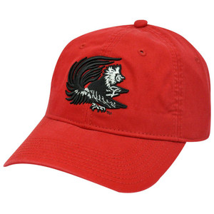 HAT CAP SOUTH CAROLINA GAMECOCKS USC RED BLACK GARMENT WASH GAME NCAA LICENSED
