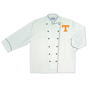 NCAA Tennessee Volunteers Vols Premium Chef Coat Professional Style White